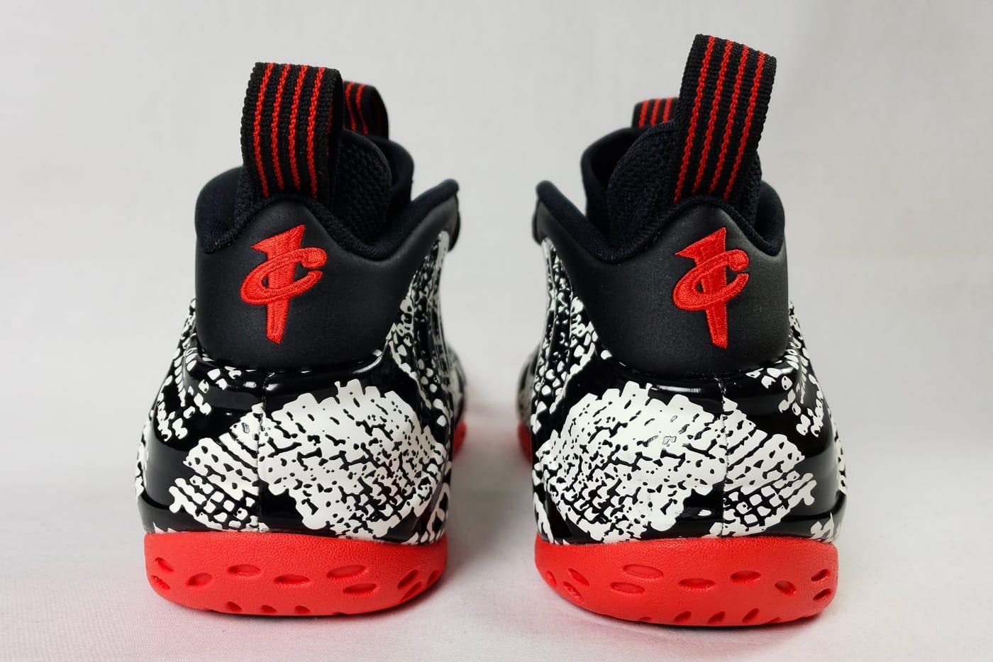 Nike Foamposite One Triple Black Suede Shoe On Foot With ...