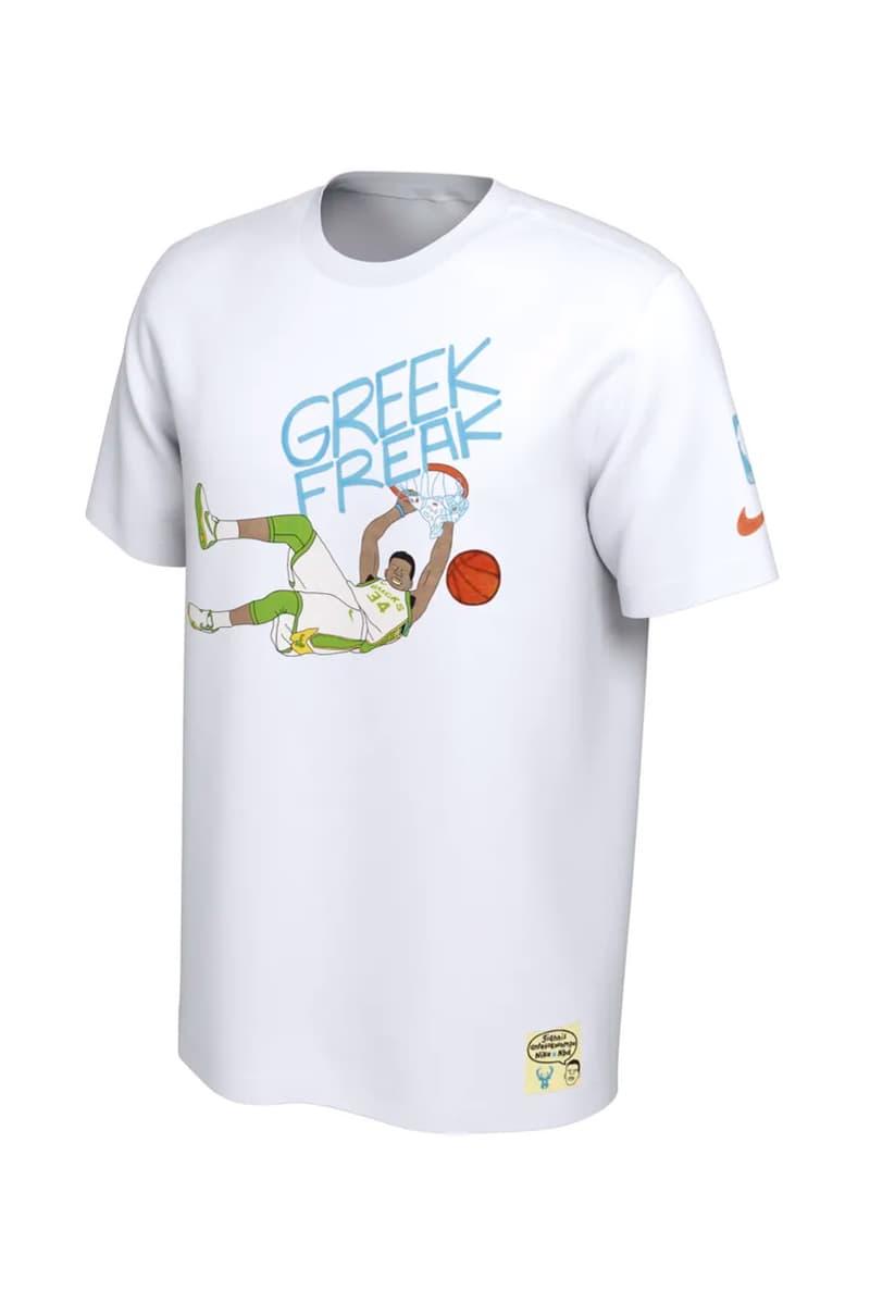 Nike 攜手藝術家 Gangster Doodles 為 NBA 球星打造專屬限定 T-Shirt