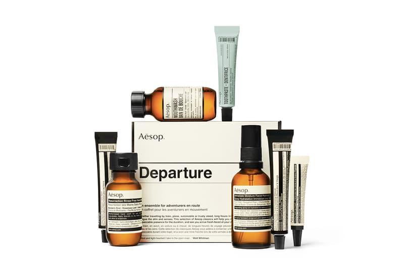 都準備好了-Aesop 推出「Departure」及「Arrival」旅行套裝