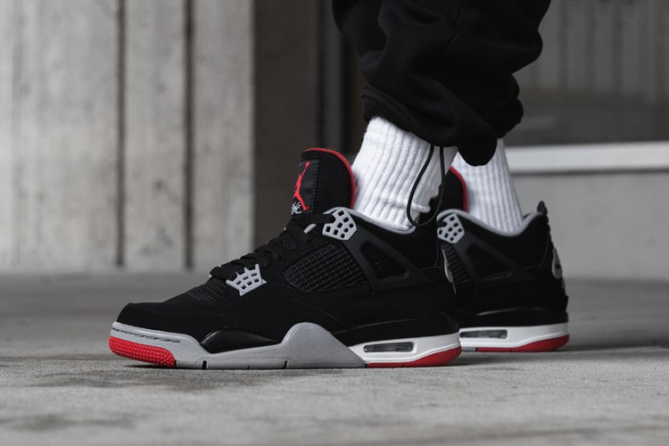 premium selection 4628d 9f097 Air Jordan 4 Retro「Bred」最新復刻版本上腳預覽