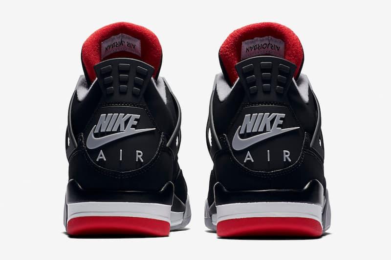Air Jordan 4「Bred」2019 年復刻版本官方圖輯公佈