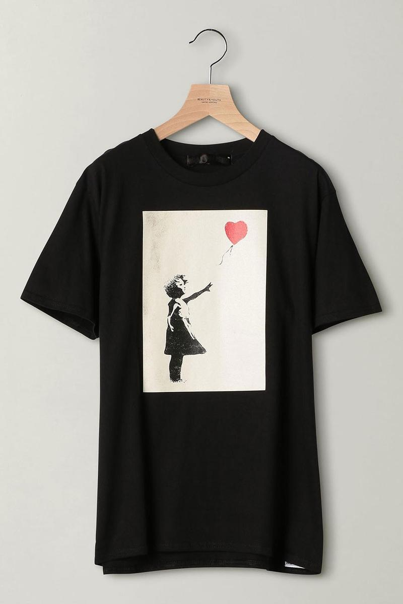 BEAUTY & YOUTH 推出限量 Banksy「Girl with Balloon」T-Shirt
