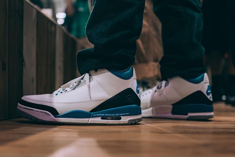 藤原浩上腳曝光 fragment design x Air Jordan 3 聯乘鞋款 Sample 版本