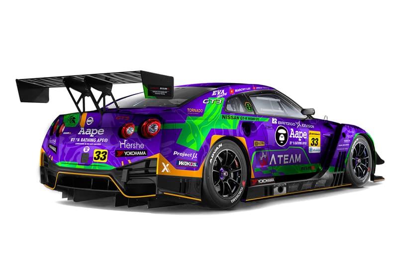 香港賽車隊 X Works x EVA Racing x AAPE 三方聯名 GT-R 最終形態曝光