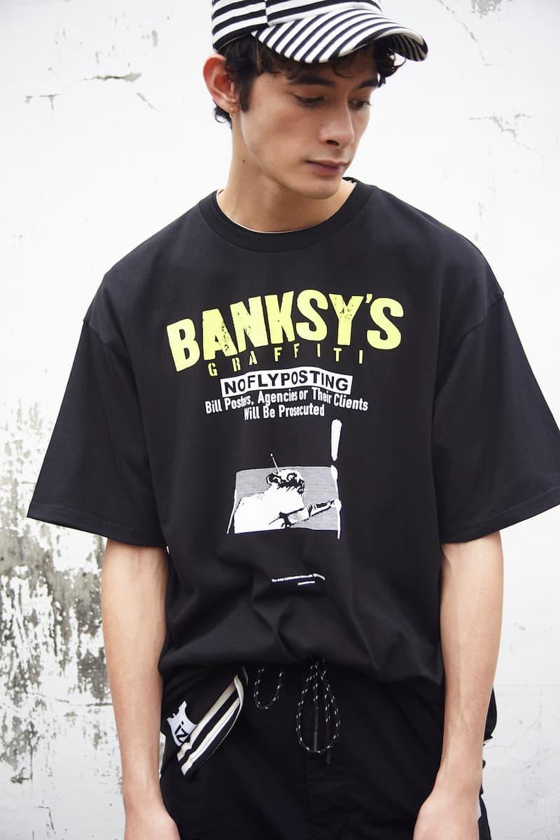 izzue x Banksy's Graffiti 2019 年春夏聯乘系列正式登場