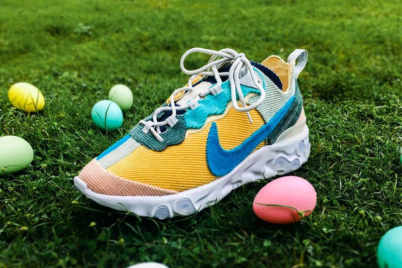 XYLAR Studio 打造 Nike React Element 87「Easter Corduroy」定製鞋款
