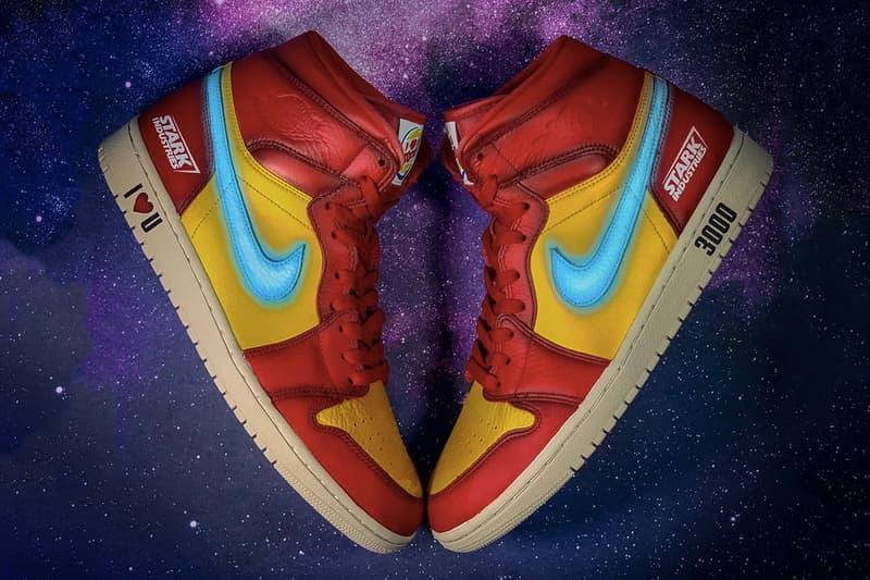 專為 Robert Downey Jr. 製作的客製化 Air Jordan 1「Iron Man」球鞋