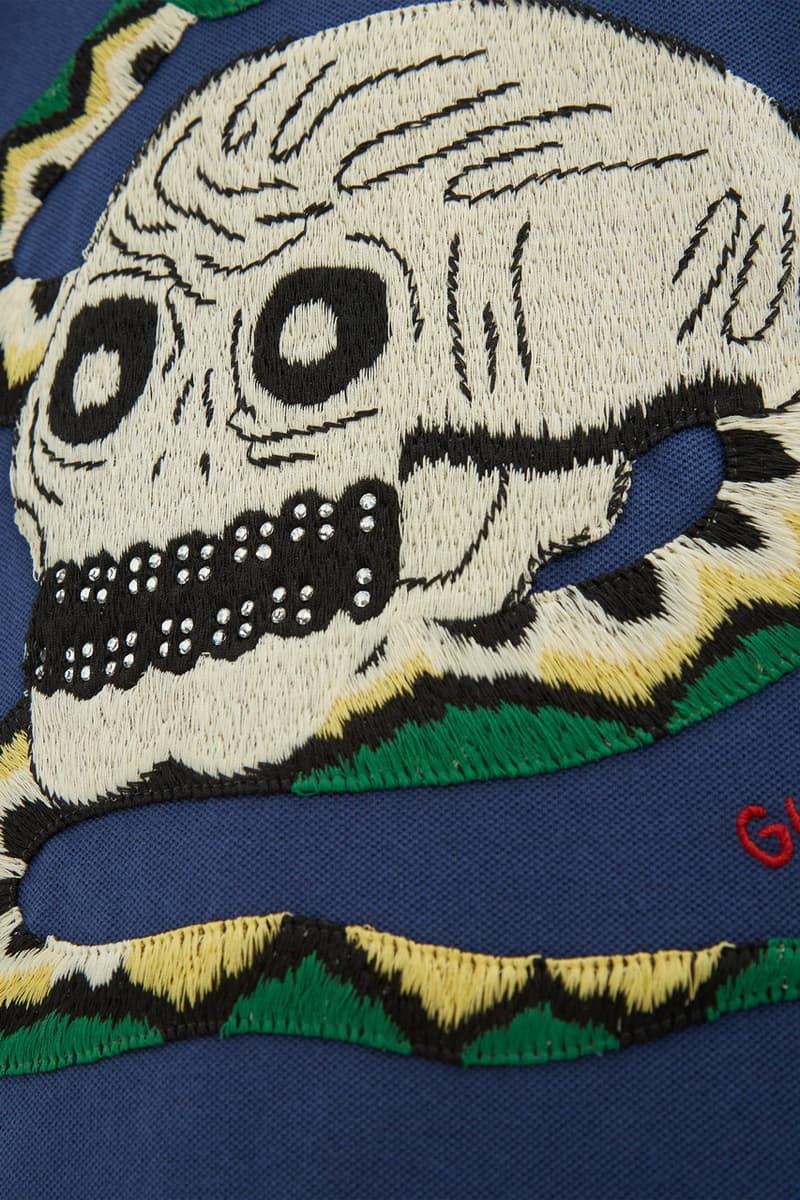 Gucci 全新 Skull and Snake-Appliqué長袖 Polo 衫上架