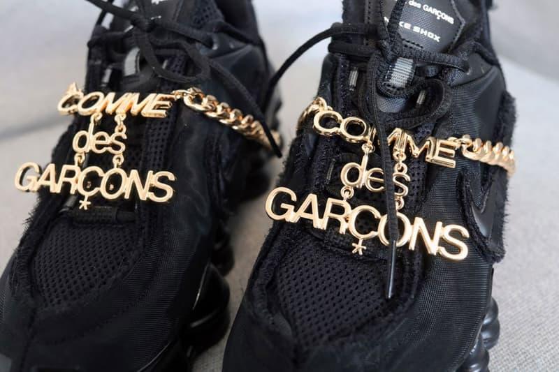 華麗細節-COMME des GARÇONS x Nike 聯乘 Shox TL 鞋款近賞