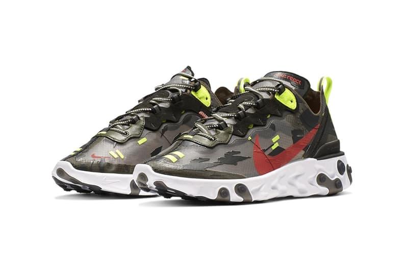 Nike React Element 87 再度迎來全新別注「虎紋迷彩」設計版本