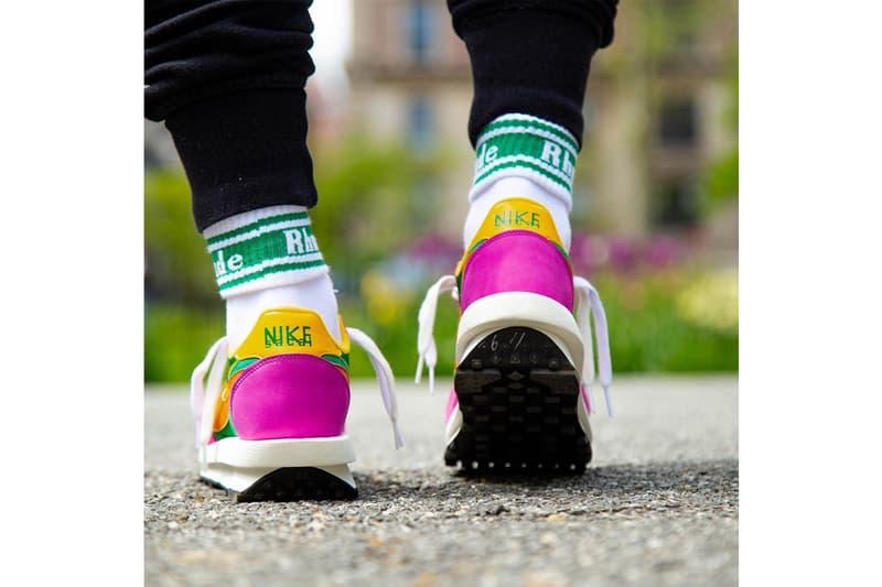 sacai x Nike「LDV With Waffle Daybreak」全新紫綠配色上腳預覽