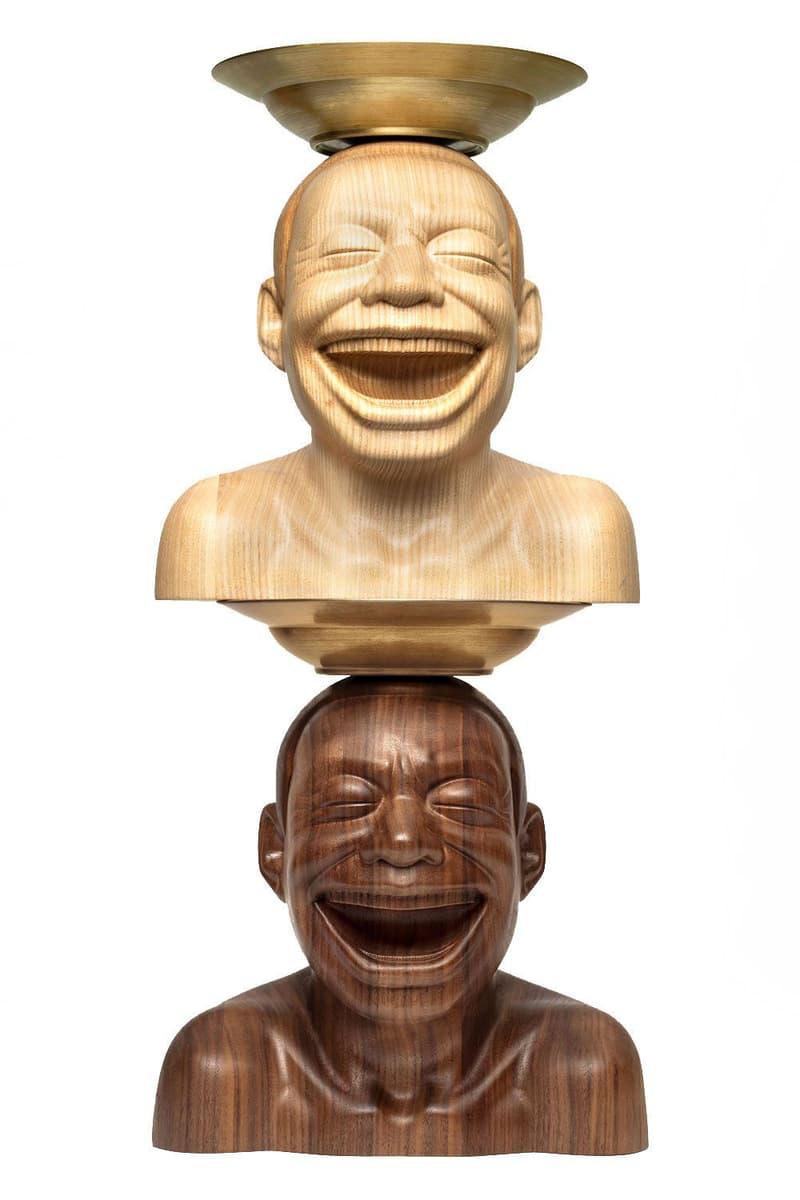 當代藝術家岳敏君攜手 AllRightsReserved 打造「SURPLUS VALUE」原木雕塑