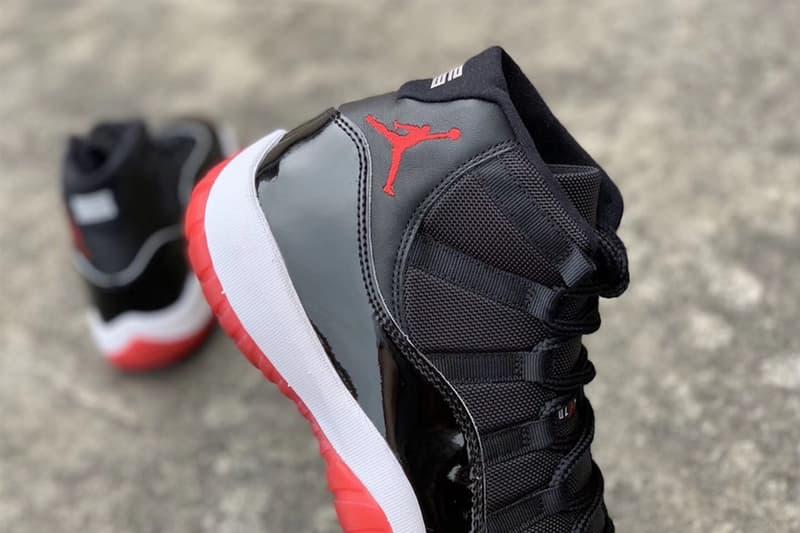 Air Jordan 11「Bred」2019 年復刻版本實鞋預覽