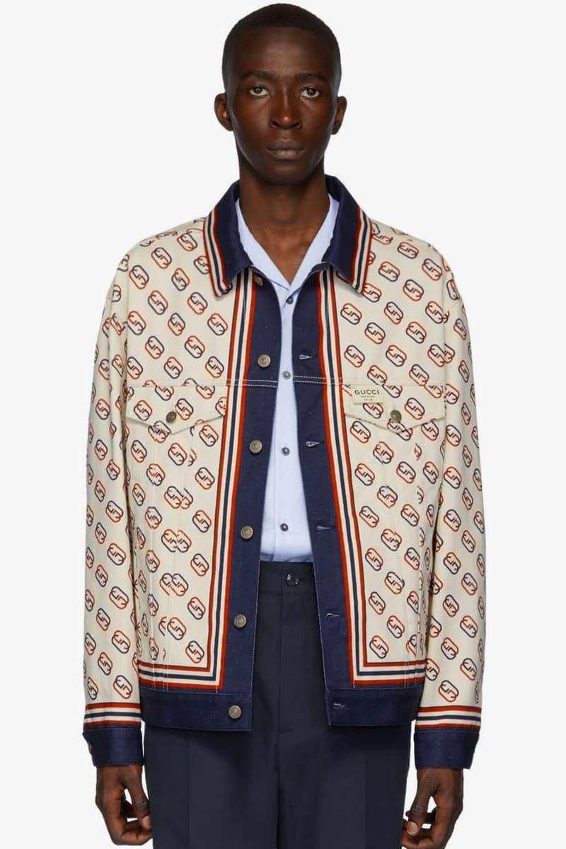 Gucci 全新 GG Logo 印花丹寧夾克和絲質短褲上架