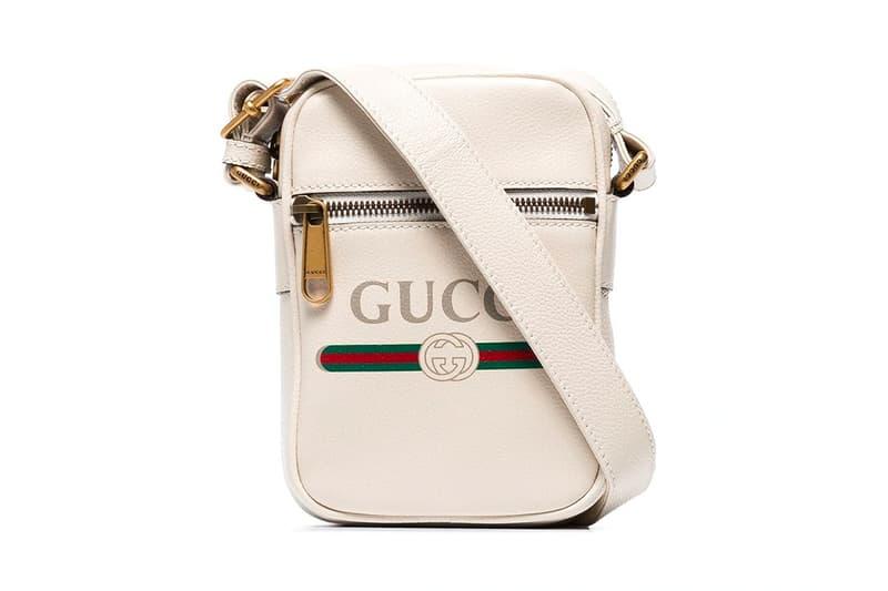 Gucci 全新印花 Logo 斜肩包上架