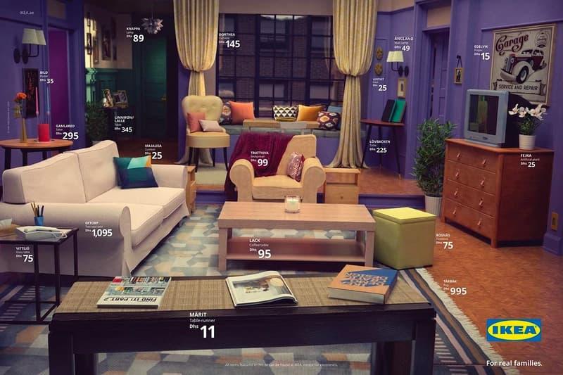 IKEA 推出「Real Life」系列還原三大美劇之客廳場景