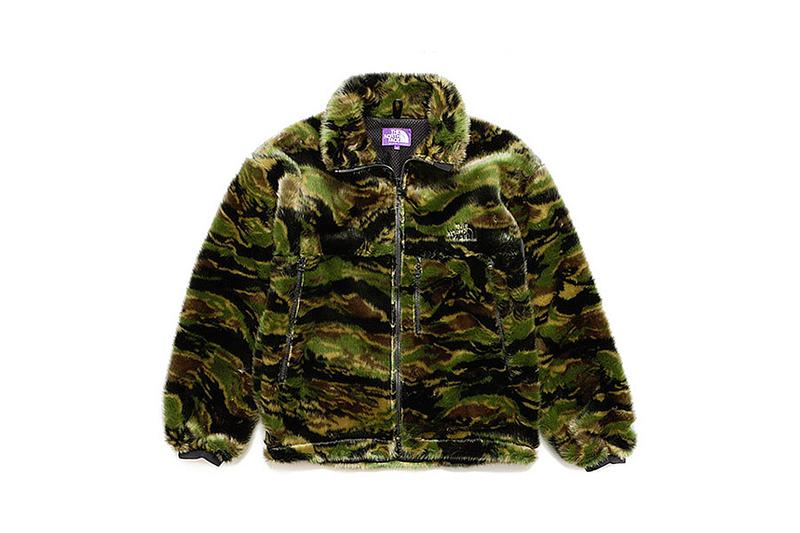 THE NORTH FACE PURPLE LABEL 推出虎紋迷彩 Comouflage Fur Field Jacket
