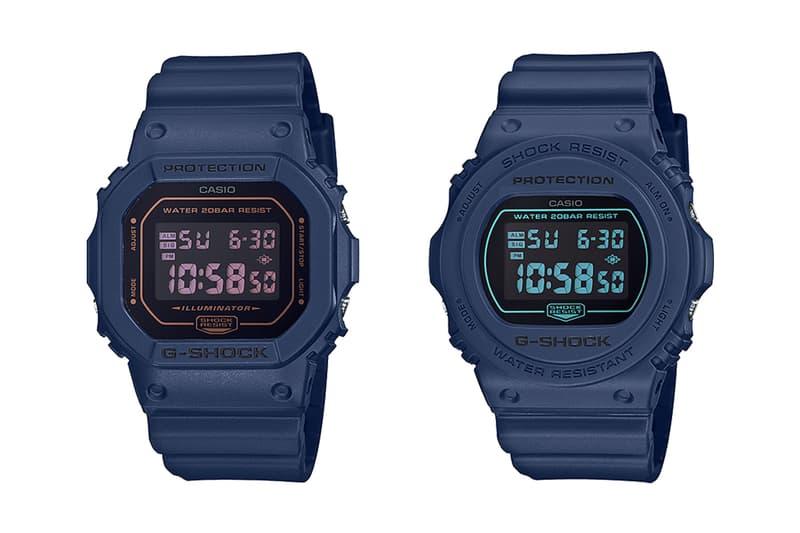 元祖藍-G-Shock 推出 Tonal 海軍藍 DW-5600 及 DW-5700