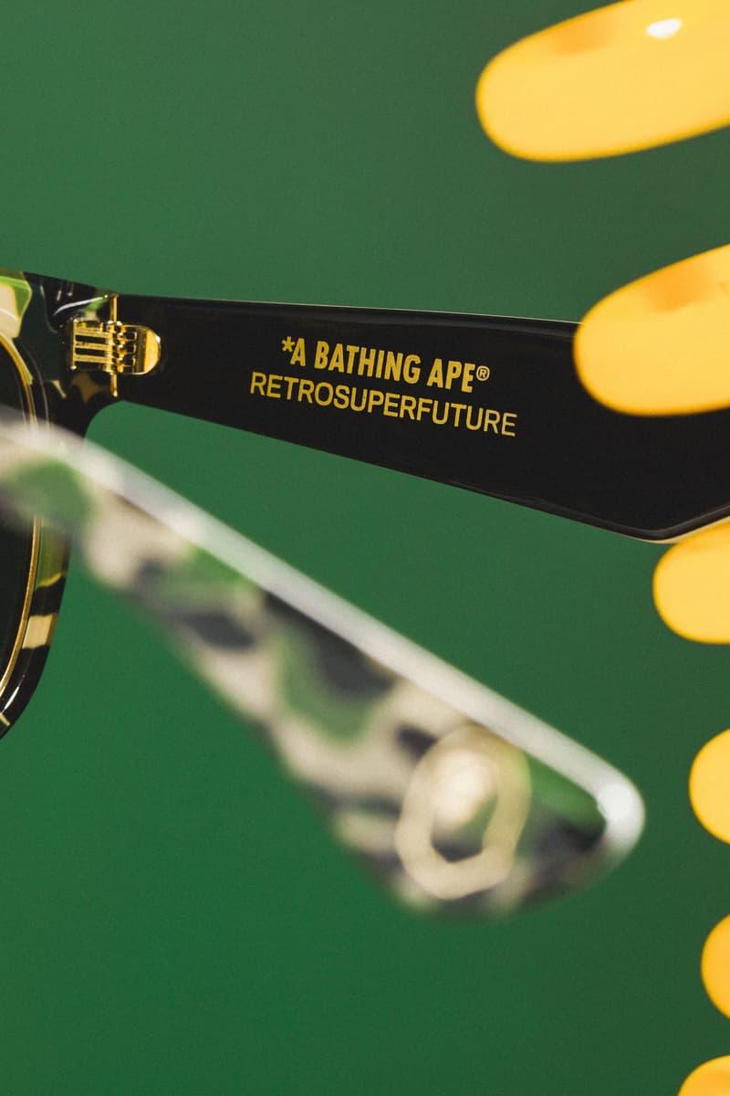 A BATHING APE® x RETROSUPERFUTURE 聯手推出耀目眼鏡作