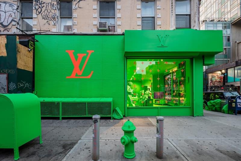率先走進 Louis Vuitton 2019 秋冬紐約「霓虹綠」Pop-Up 期限店舖