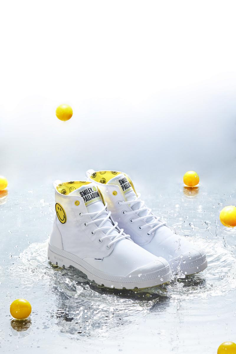 陰天快樂-Palladium x SMILEY 聯乘 Pampa Puddle 防水鞋款