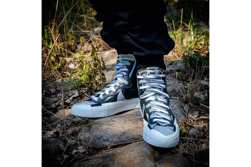 近賞 sacai x Nike 聯乘 Blazer with the Dunk 鞋款黑白灰配色最新上腳圖輯