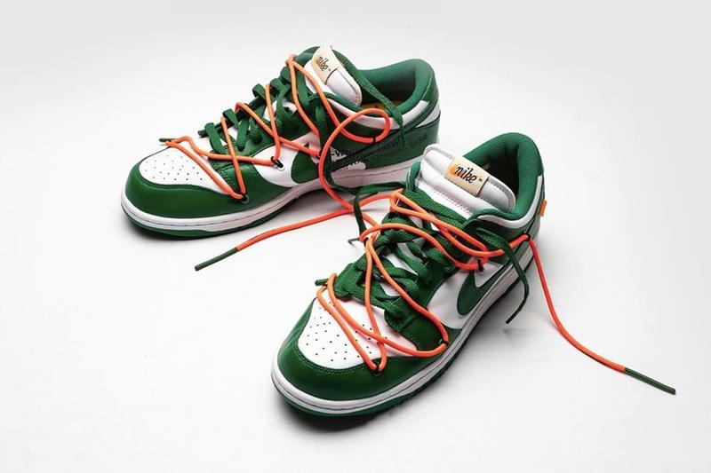 Off-White™ x Nike Dunk Low 全新「Pine Green」綠白配色曝光圖片