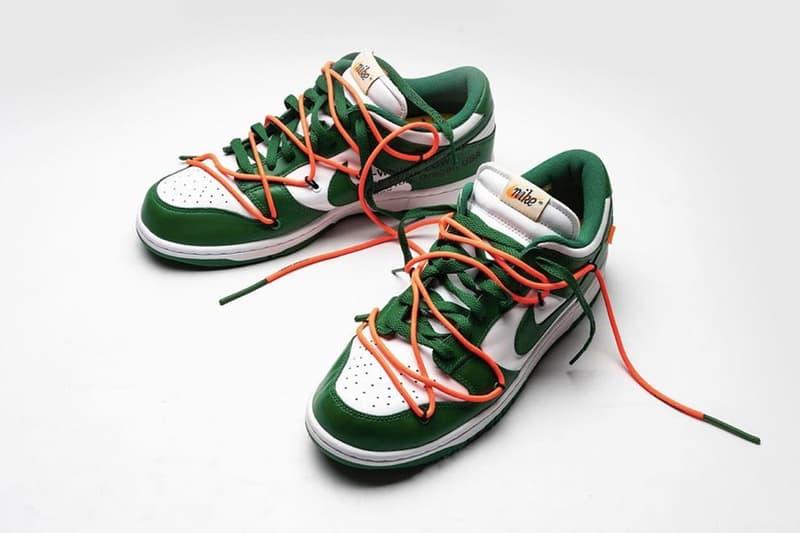 Off-White™ x Nike SB Dunk Low 全新「Pine Green」綠白配色曝光圖片