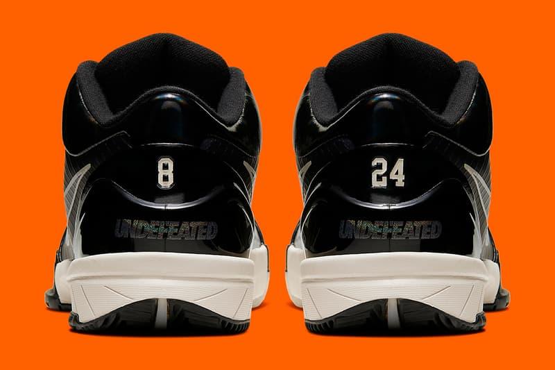 「BLACK MAMBA」-UNDEFEATED x Nike Kobe 4 Protro 隱藏配色公開