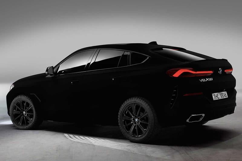 虛無之黑-BMW 打造究極暗黑 X6「Vantablack」車款