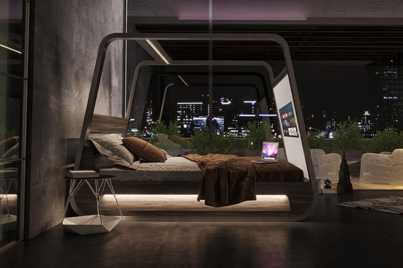 Hi-Interiors 推出搭載內置投影機與音響系統之全新智能床