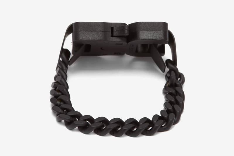 1017 ALYX 9SM 推出全黑魂版本 Buckle Chainlink Bracelet