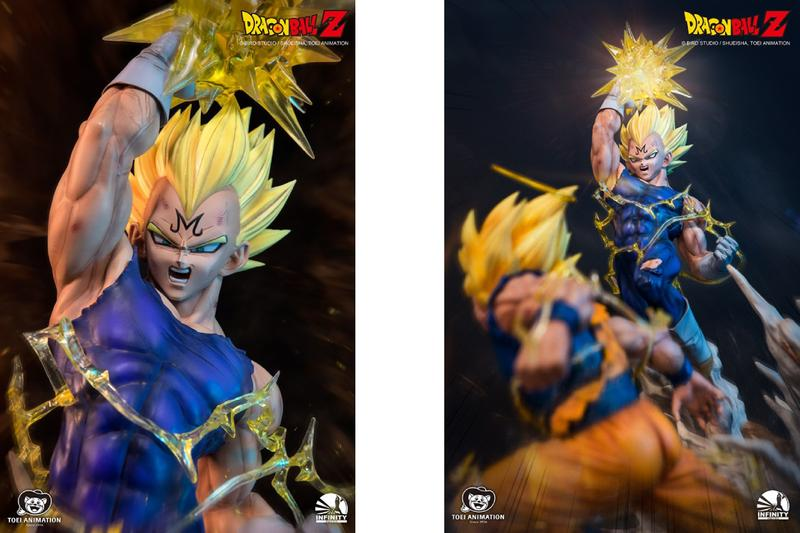 虐心一戰 − Infinity Studio 打造《龍珠》「魔人貝吉塔  Vs. 悟空」經典打鬥雕像