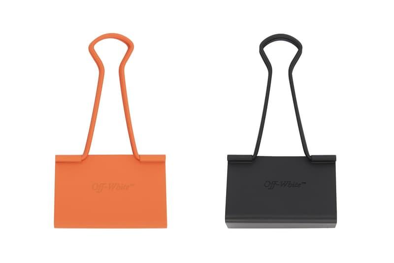 Off-White™ 推出全新黑橙色調長尾夾配件
