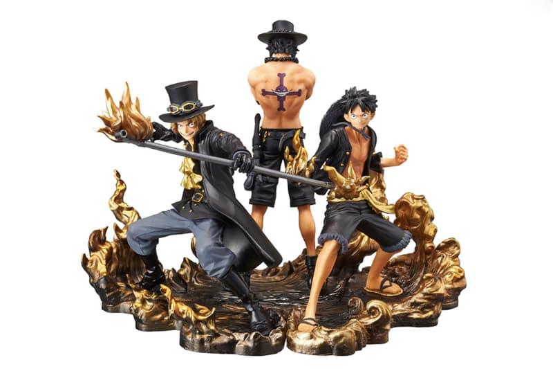 《ONE PIECE》推出全新「艾斯、路飛、薩波」黑金火焰版本雕像