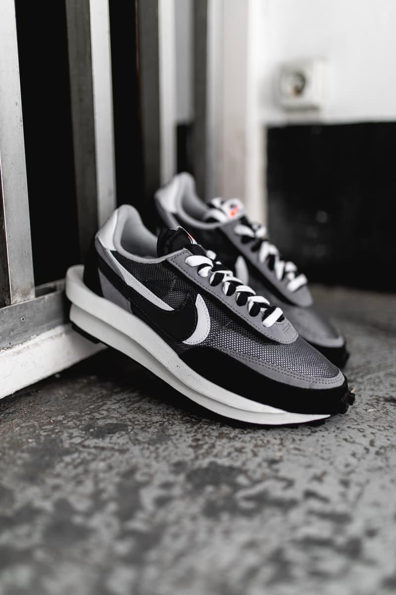 獨家近賞 sacai x Nike LDWaffle 聯乘黑色鞋款