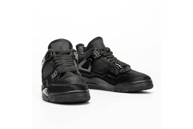 豪奢黑魂 − 率先預覽 Air Jordan 4 全新牛毛皮面料「Black Cat」鞋款