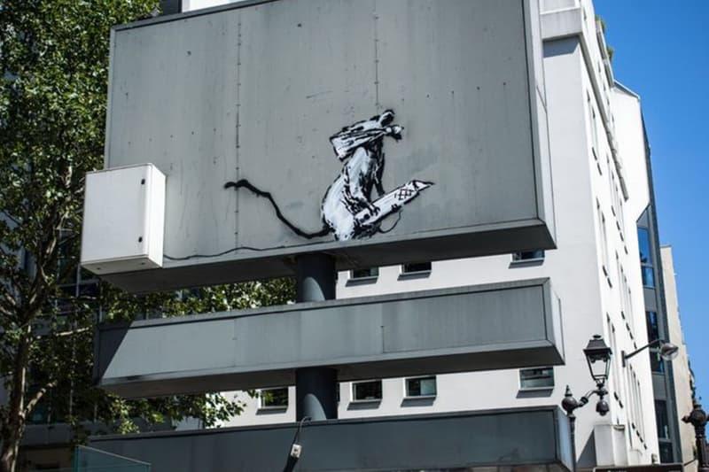 塗鴉藝術家 Banksy 之作品於巴黎市中心遭到盜竊