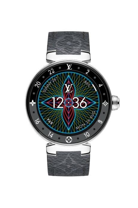 Louis Vuitton Tambour Horizon 智能腕錶迎來全新霓虹數字介面