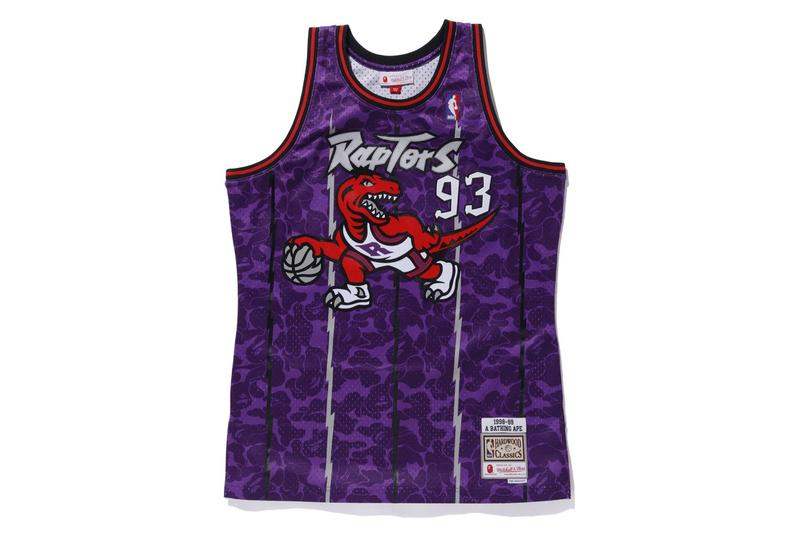 A BATHING APE® x Mitchell & Ness 全新聯乘 NBA 球衣系列發佈