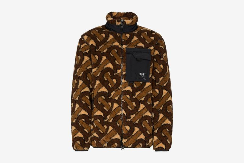 Burberry 推出全新 TB Monogram Fleece 夾克
