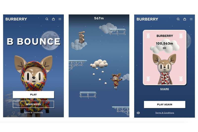 Burberry 推出首款線上小遊戲《B Bounce》