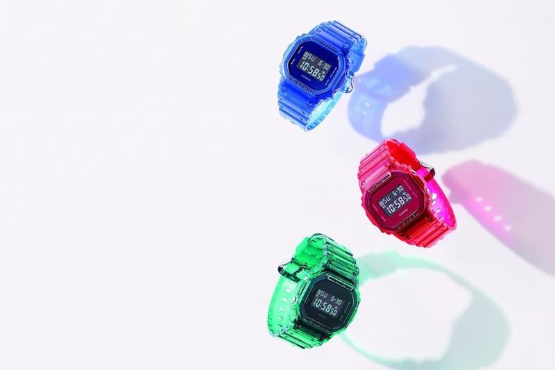腕上紅藍綠-Casio G-Shock 全新「Color Skeleton」DW-5600 系列