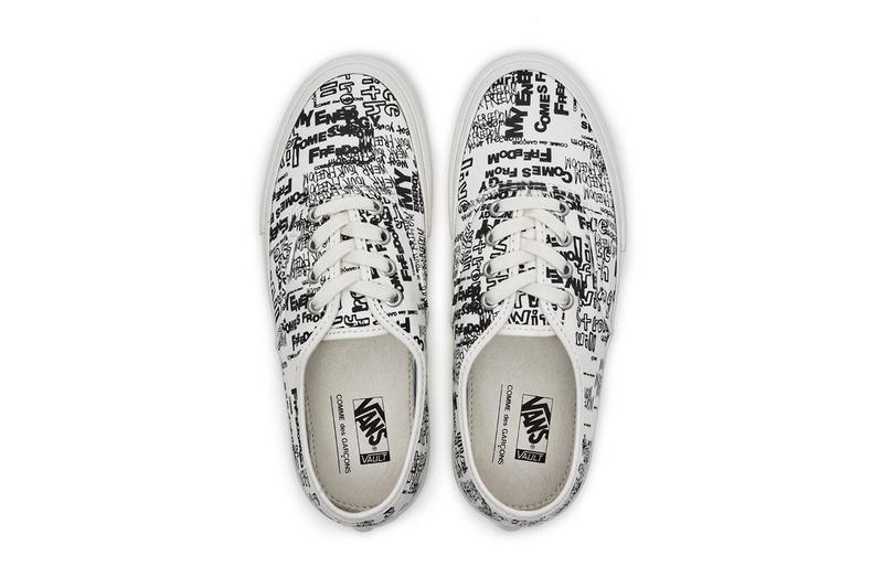 COMME des GARÇONS  x Vans 再度迎來白色版本 Authentic 聯乘鞋款
