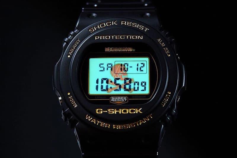 NEIGHBORHOOD x G-Shock 聯手重塑經典圓形 DW-5750 初期錶款