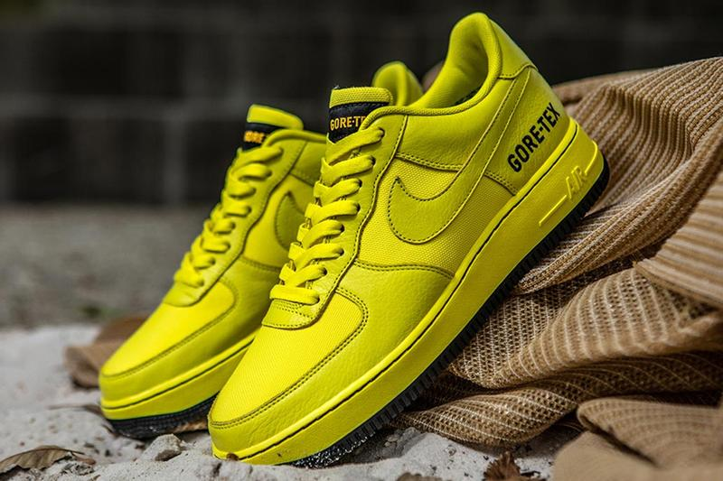 Nike 推出螢光黃色 Air Force 1 Low「GORE-TEX」