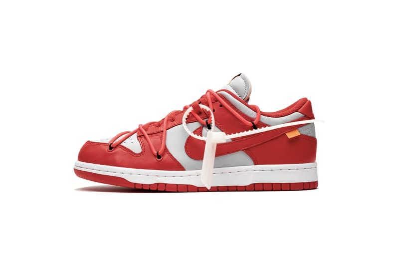 Off-White™ x Nike Dunk Low「University Red」最新細節圖輯再曝光