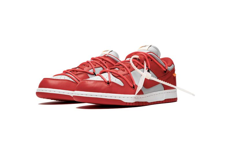 Off-White™ x Nike SB Dunk Low「University Red」最新細節圖輯再曝光