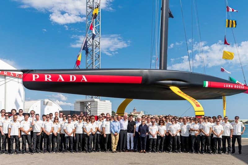 Prada 推出特製 Luna Rossa 單體帆船