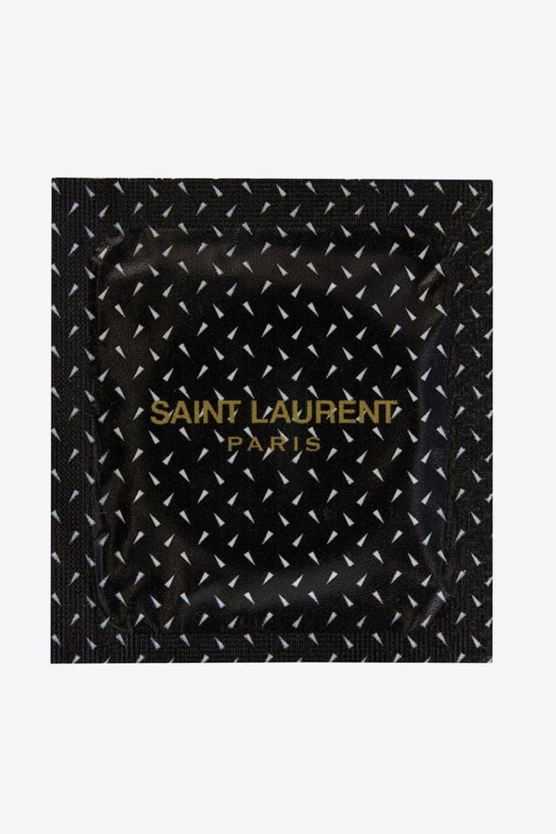 Saint Laurent 推出要價 €2 歐元之別注避孕套系列